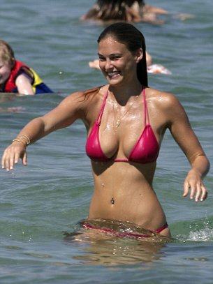 Leo DiCaprios Girlfriend Model Bar Rafaeli in Costa Del Sol