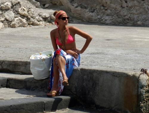 Eva Mendes in Capri Italy