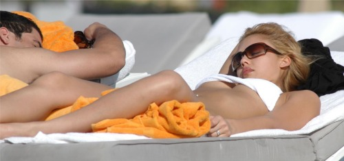Jessica Alba in South Beach Miami