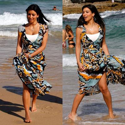 Kim Kardashian at Bondi Beach